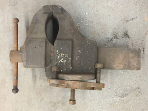 Vintage Antique Hollands Vise Swivel Base Bench 6 Jaws Heavy 180lbs Metal Tool