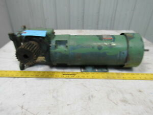 Reliance 12 7 1 180v Arm 100 200v Field 1hp 137 7rpm Out Dc Motor Gear Reducer