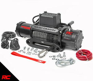 Rough Country Pro9500s 9 500 lb Pro Series Electric Winch W Synthetic Rope