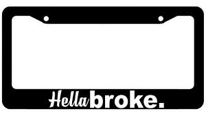 Hellabroke Funny Jdm Black License Plate Frame Owntheavenue