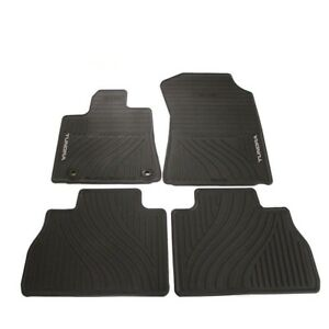 Black All Weather Floor Mats Genuine For New Tundra Double Cab Crew Max 12 13