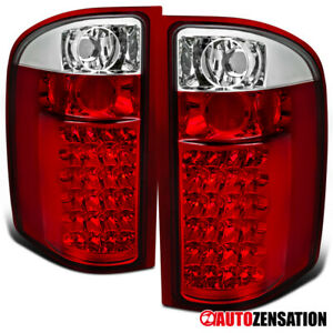 For 2007 2014 Chevy Silverado 2500hd 3500hd Red Tail Lights Brake Lamps