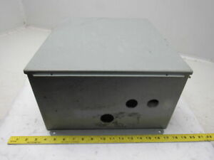 Hoffman A16148ch 16x14x8 Steel Electrical Enclosure Wall Mount W back Plate