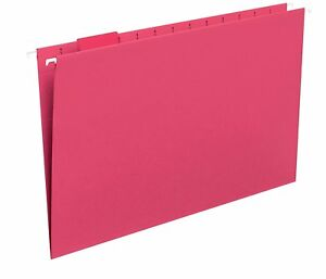 Smead Hanging File Folder With Tab 1 5 cut Adjustable Tab Legal Size Red 25