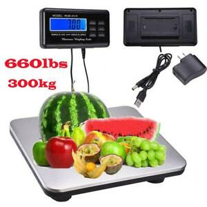 New 660lb 0 1lb Digital Scale Bench Scale Digital Shipping Postal Scale Platform