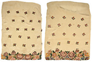 Antique Hand Embroidered Pillowcases From Croatia Vintage Floral Garden Peasant