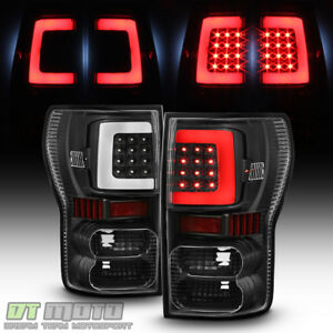For Black Bright Light Tube 2007 2013 Toyota Tundra Led Tail Lights Brake Lamps