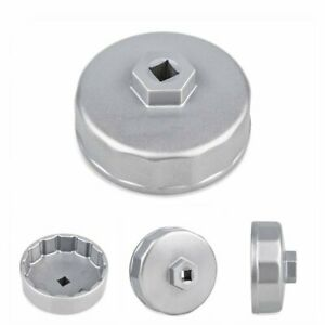74mm Steel Oil Filter Cap Wrench Socket Remover Tool For Benz Audi Toyota Vw