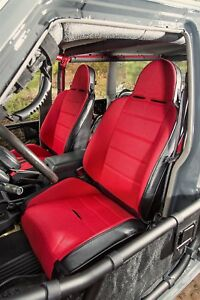 1976 2002 Jeep Cj Yj tj Wrangler Rrc Reclining Race Seat Red black 13406 53