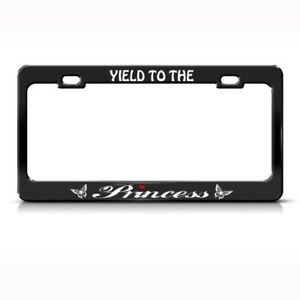 Metal License Plate Frame Yield To The Princess Pink Car Accessories Chrome