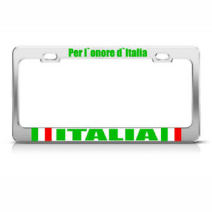 For Honor Of Italy Italian License Plate Frame Tag Holder