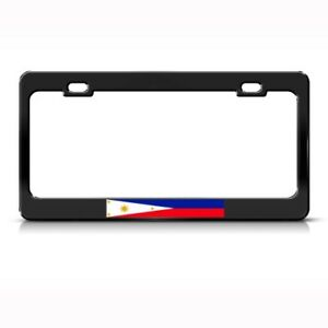 Philippines Flag Filipino Country Metal License Plate Frame Tag Holder Two Holes