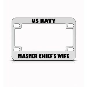Navy Master Chief S Wife Motorcycle License Plate Frame