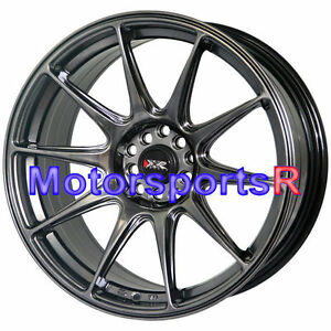 Xxr 527 18 Chromium Black Rims Staggered Wheels 5x114 3 Fit Nissan 350z Nismo