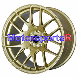 18 Xxr 530 Gold Concave Rims Staggered Wheels 5x114 3 Fit 08 Nissan 350z Nismo