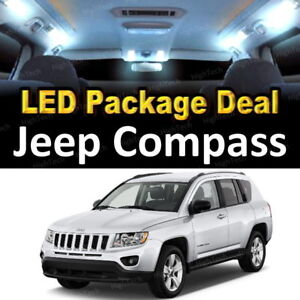 6x White Led Lights Interior Package Deal For 2007 2016 2017 2018 Jeep Compass