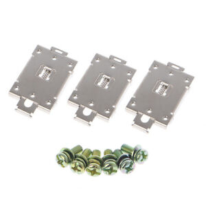 3 Pcs Single phase Solid State Relay 35mm Din Fixed Rail Mounting Bracket Clamp