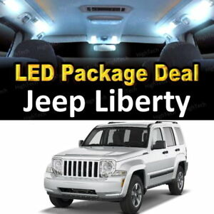 8x White Led Lights Interior Package Deal For 2008 2010 2011 2012 Jeep Liberty