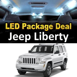 10x White Led Lights Interior Package Deal For 2004 2005 2006 2007 Jeep Liberty