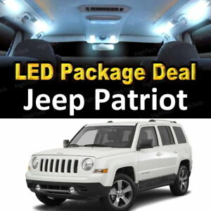 6x White Led Lights Interior Package Deal For 2007 2016 2017 2018 Jeep Patriot