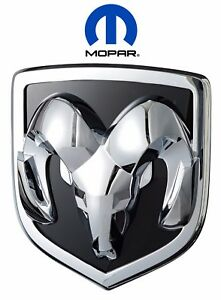 For Dodge Ram 1500 2006 2012 W Chrome Grille Rams Head Emblem Badge Oem Mopar