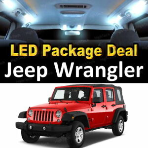 8x White Led Lights Interior Package Deal For 2010 2016 2017 Jeep Wrangler