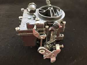 Vintage Speed Rochester 2g Primary Carb In Silver Vein Tri Power Hot Rod
