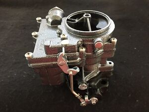 Vintage Speed Rochester 2g Secondary Carb In Silver Vein Tri Power Hot Rod
