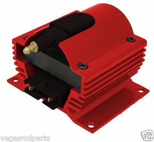 12 Volt External Ignition Coil E Core Style Red Universal