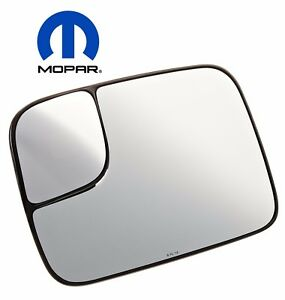 Dodge Ram 2500 3500 2005 09 Driver Left Power Tow Mirror Heated Glass Oem Mopar