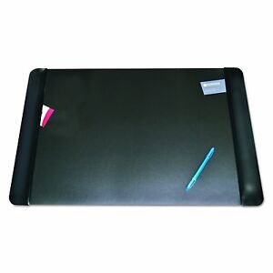 Artistic 413861 Executive Desk Pad With Leather like Side Panels 36 X 20 Black