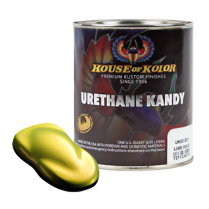 House Of Kolor Uk02 Lime Gold Kosmic Kolor Urethane Kandy Auto Paint 1 Quart