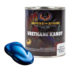 House Of Kolor Uk04 Oriental Blue Kosmic Kolor Urethane Kandy Auto Paint 1 Quart