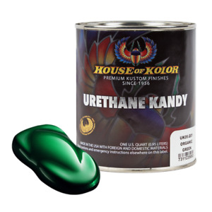 House Of Kolor Uk09 Organic Green Kosmic Kolor Urethane Kandy Auto Paint 1 Quart