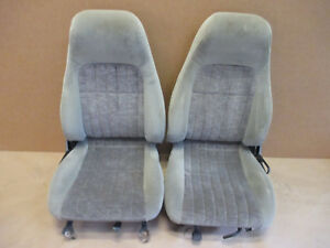 00 02 Camaro Rs Ss Z28 Pewter Cloth Seat Seats Front 0911 3