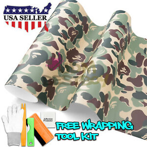 60 X120 Green Ape Camouflage Camo Car Vinyl Wrap Sticker Decal Air Release