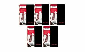 Black N Red Twin Business Notebook Hardcover Wired 8 1 4 X 5 7 8 Inches 70