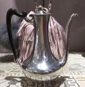 Antique Towle Sterling Silver Teapot With Wood Handle Circa 1890