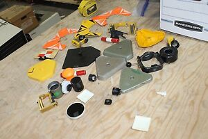 Large Lot Of Survey Prizms Parts Wild Leica Bases