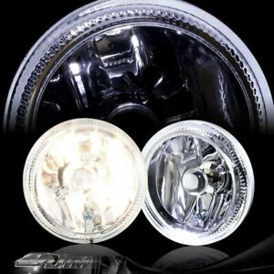 4 Round Chrome Housing Clear Halo Fog Light Lamps Switch Bulbs Kit Universal 5