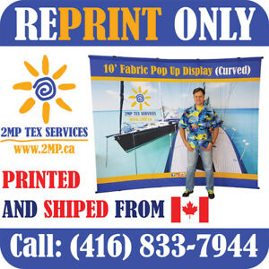 Replacement Graphic Re print 10 Trade Show Pop Up Fabric Display Booth Exhibit