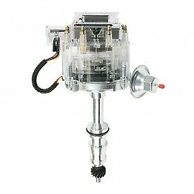 Ford Fe Ft Heavy Duty V8 Hei Distributor With 5 16 Shaft Clear Cap