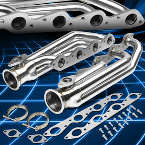 For 66 95 Chevy gmc Bbc Engines Stainless 3 v band Turbo Manifolds 38mm Wg Port