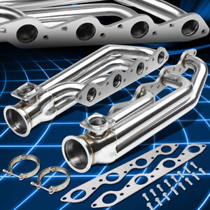 For 66 95 Chevy gmc Bbc Engines Stainless 3 v band Turbo Manifolds 46mm Wg Port