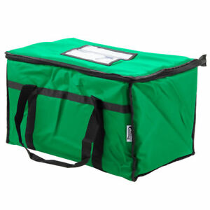Choice 23 X 13 X 15 Green Insulated Nylon Food Delivery Bag Pan Carrier