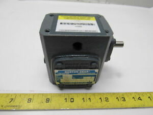 Boston Gear 710 20 j Right Angle Worm Gear Speed Reducer 20 1