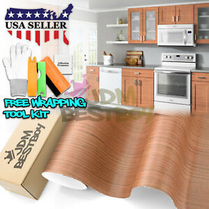 24 x48 Wood Grain Vinyl Wrap Sticker Car Home Kitchen Desk Decoration 1538