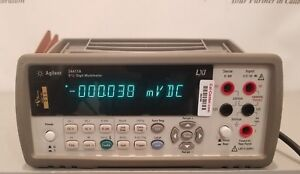 Agilent 34411a 61 2 Digital Multimeter nist Traceable Cert