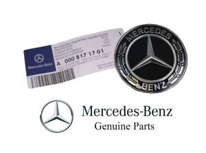 Genuine For Mercedes Benz Hood Flat Laurel Wreath Badge Emblem