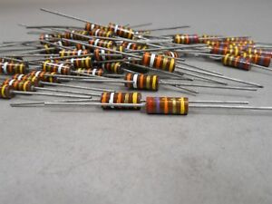 Lot Of 106 Allen Bradley 1 Watt Carbon Comp Resistors 27 3 39 3 Ohm